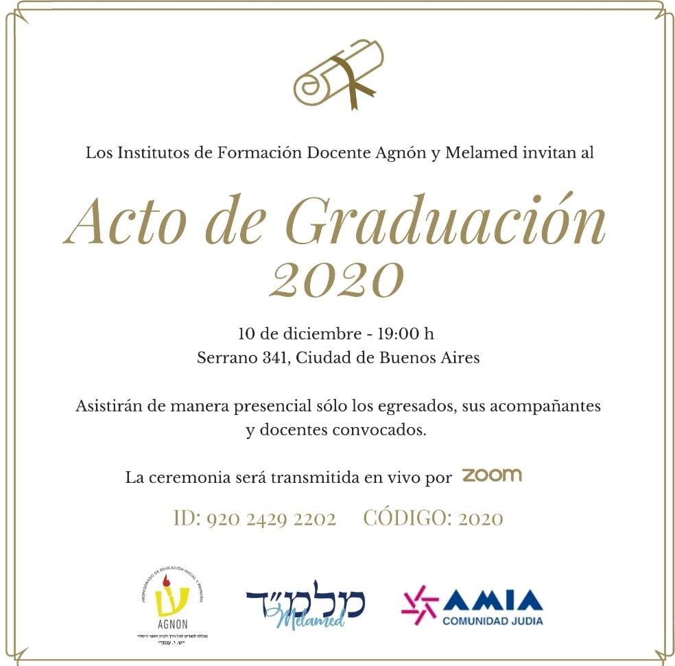 Acto de Graduación 2020 Invitación